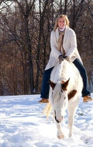 Elaine Davis on horse