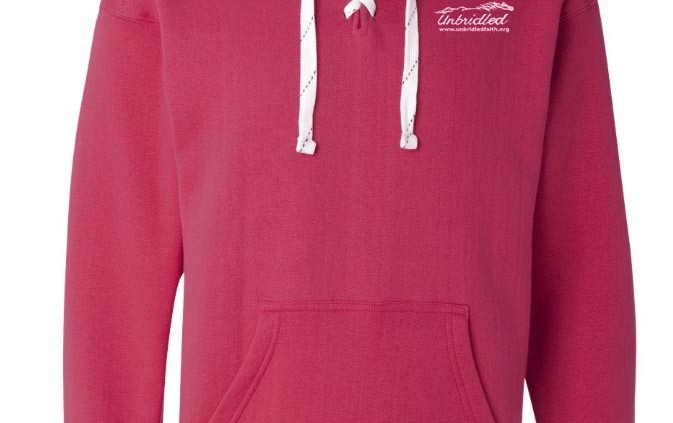 Unbridled wildberry on hoodie
